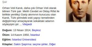 Orhan Veli Kanık Unutulmaz Şiirleri..