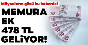 MEMURA EK 478 TL GELİYOR!