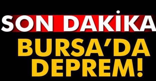 Son Dakika Bursa'da Deprem