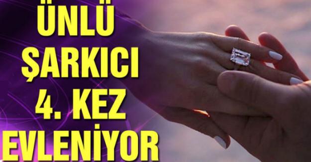 Ünlü Şarkıcı 4.Kez Evleniyor